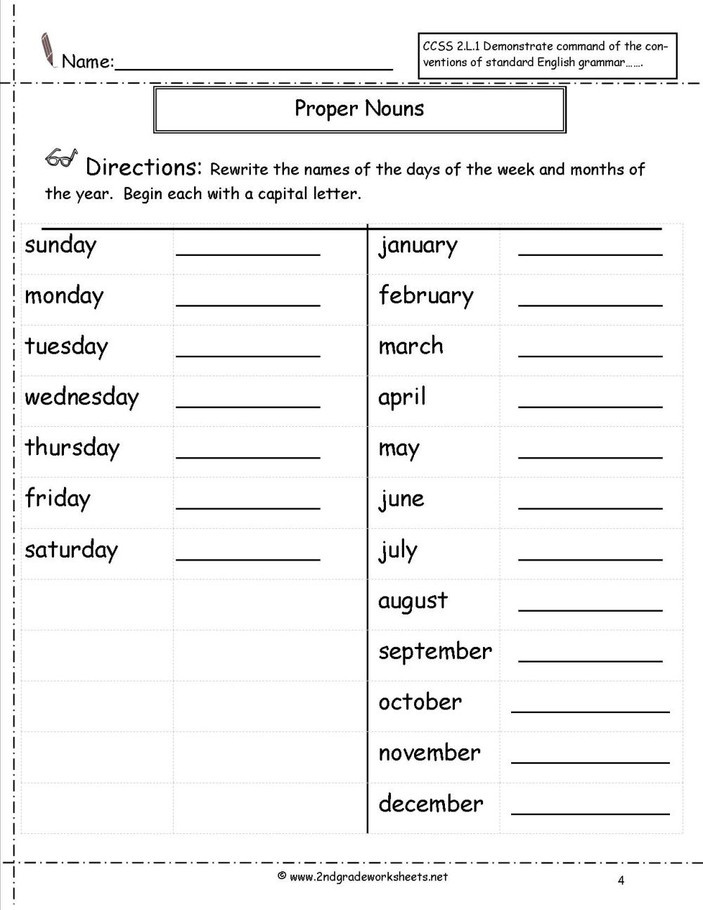 medium resolution of Proper Nouns And Common Nouns Worksheet   Printable Worksheets and  Activities for Teachers