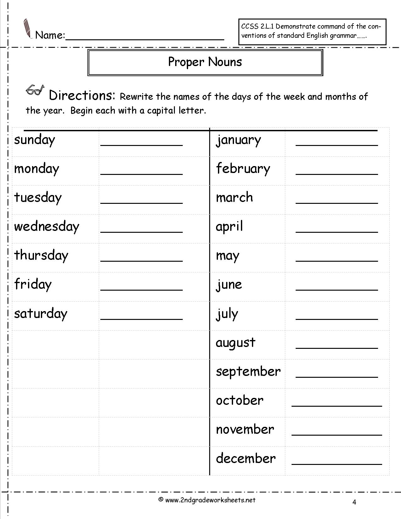 hight resolution of Proper Nouns And Common Nouns Worksheet   Printable Worksheets and  Activities for Teachers