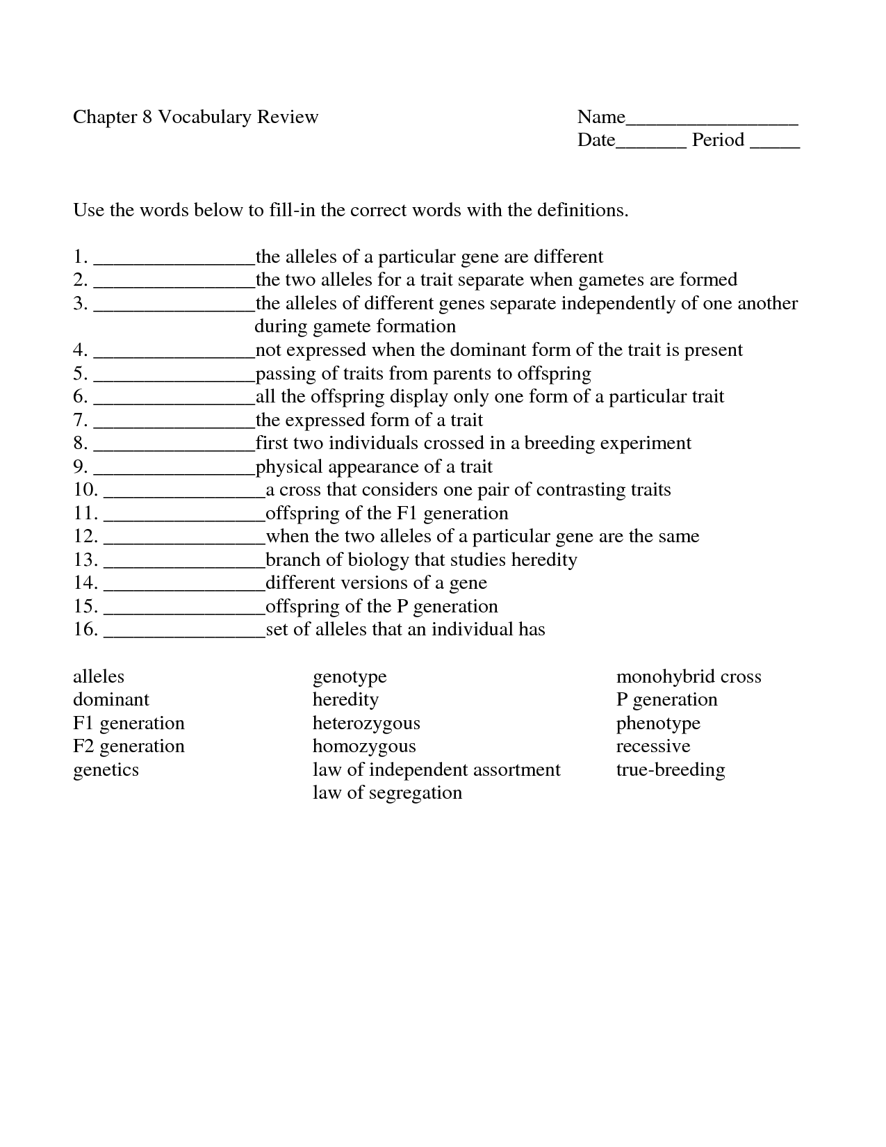 Biology Pedigree Worksheet Blood Type