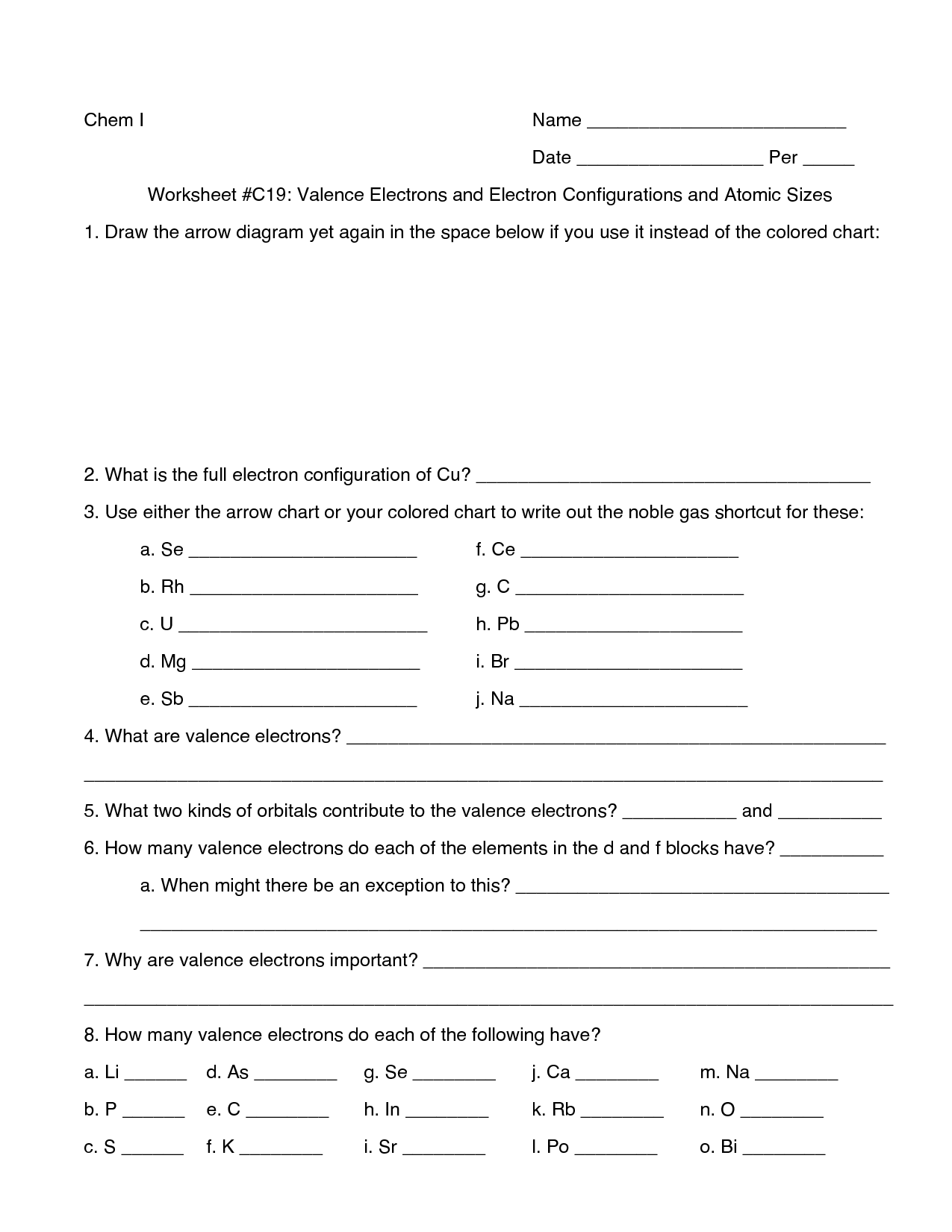 11 Best Images Of Elements Worksheet And Answers