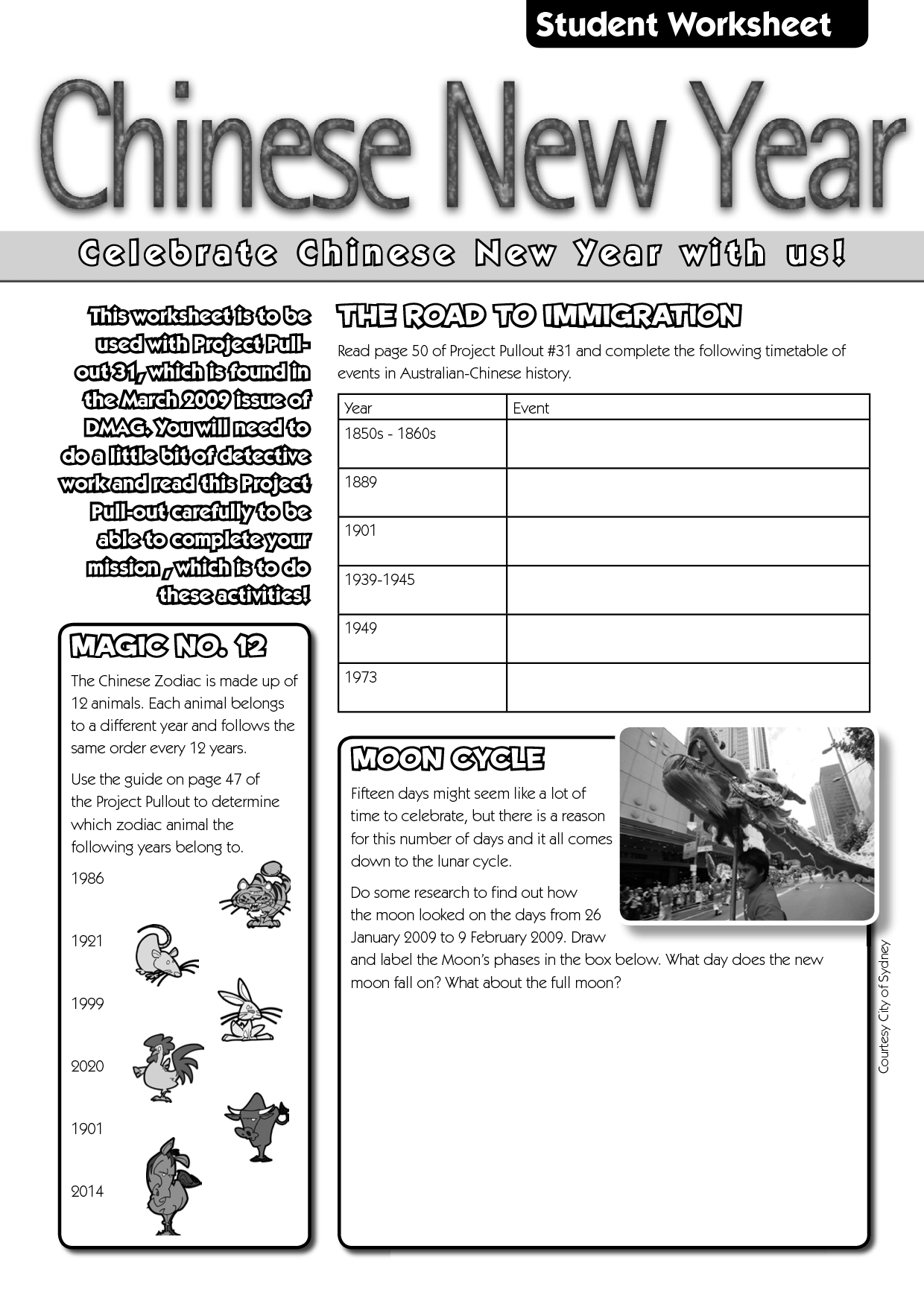 13 Best Images Of Worksheets Chinese New Year