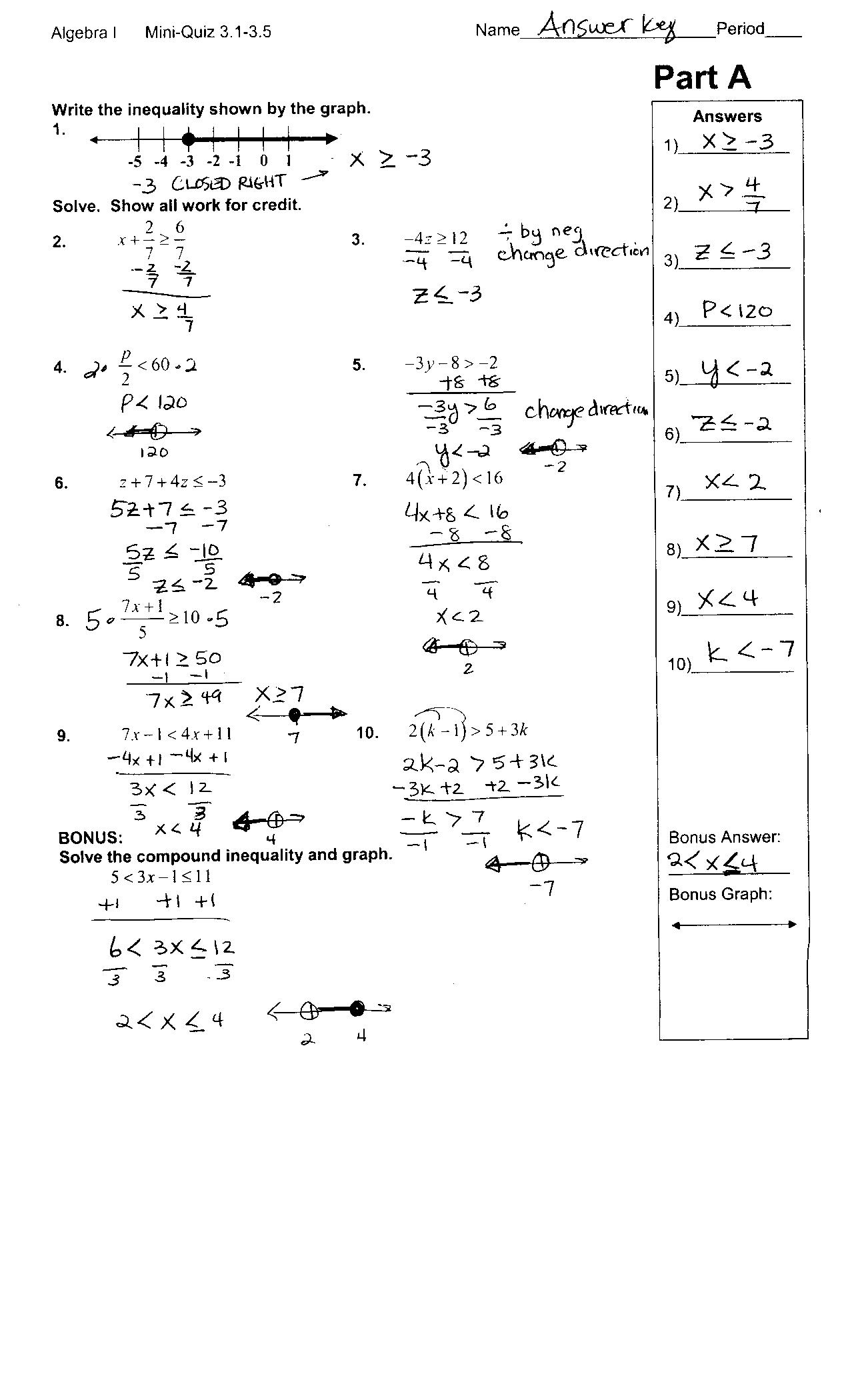 9 Best Images Of Statistics Worksheet And Answer Key