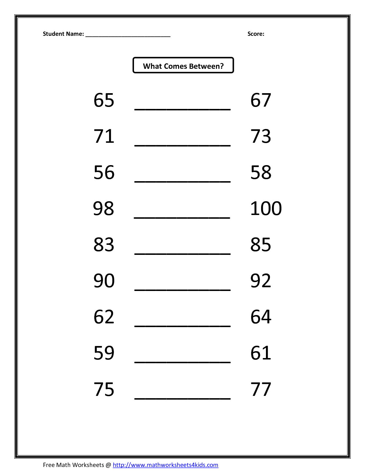 Number Of Square Root Worksheet