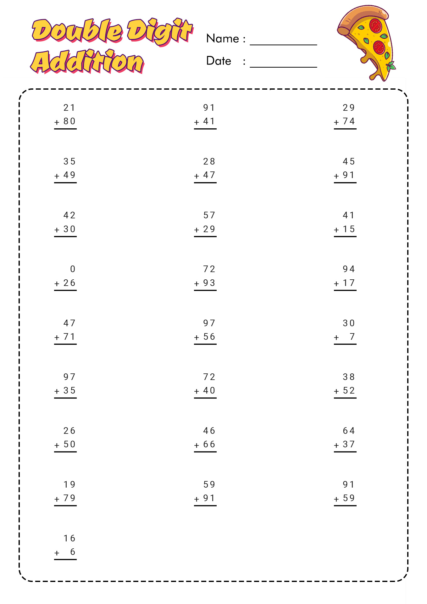 18 Best Images Of Timed Addition Worksheets