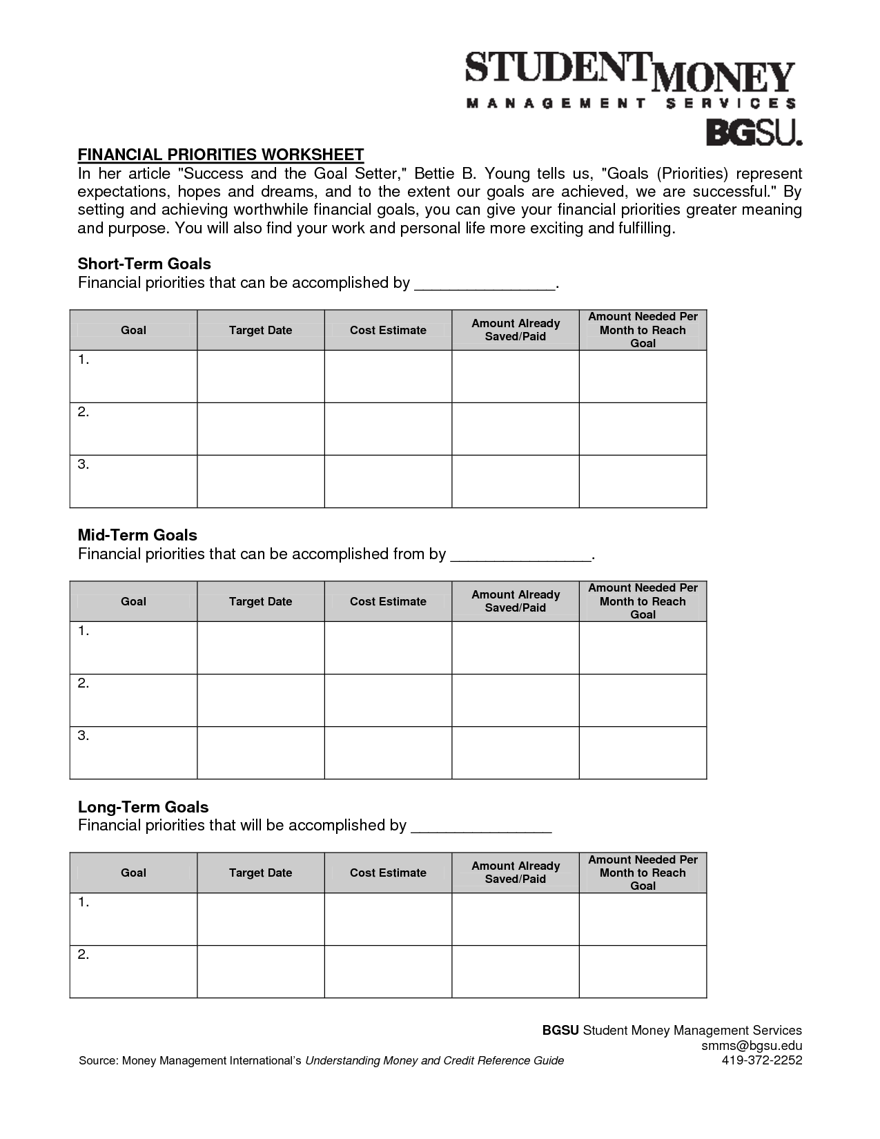 14 Best Images Of Personal Development Worksheet