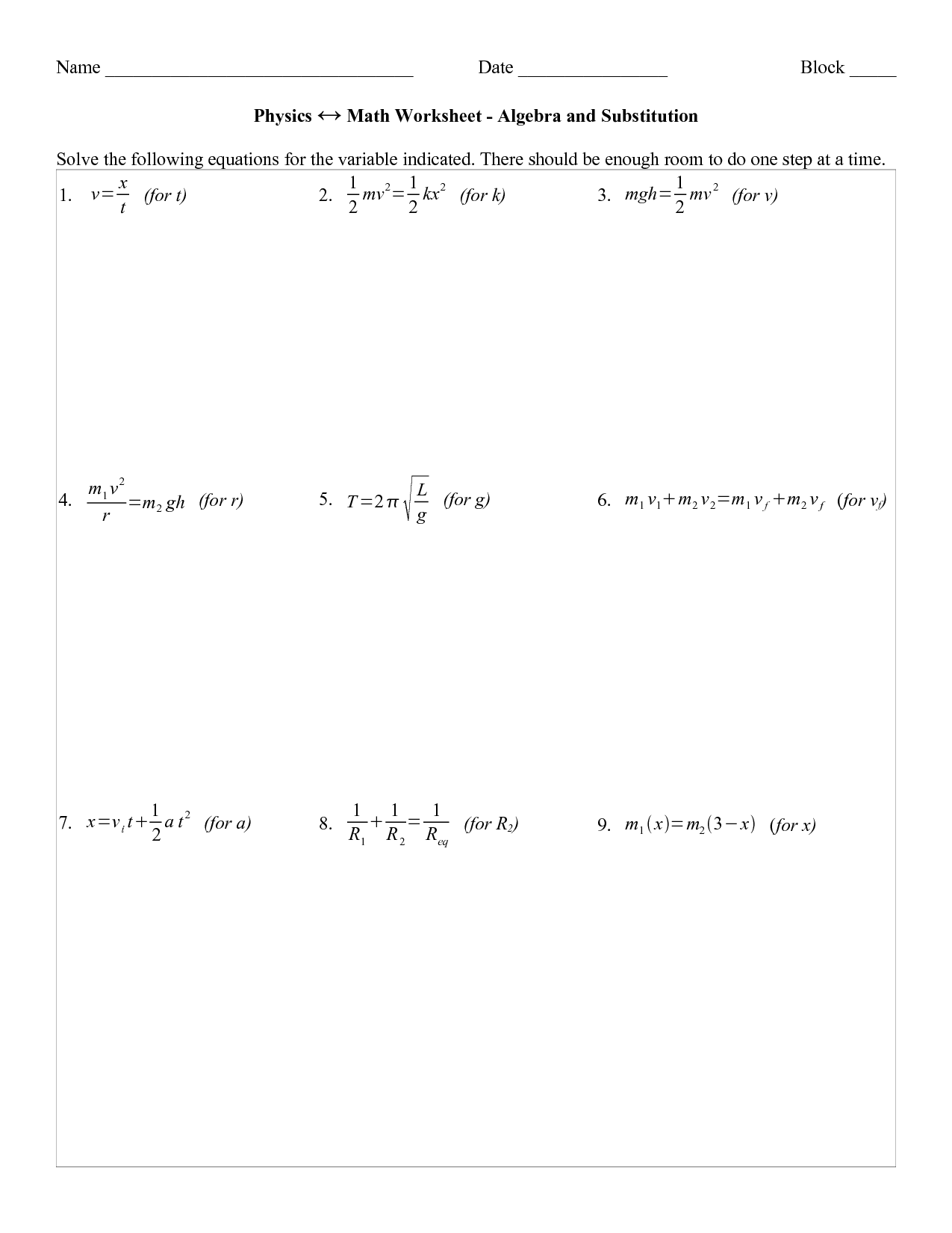 Delighted Substitution Algebra Worksheet Photos - Printable Math ...