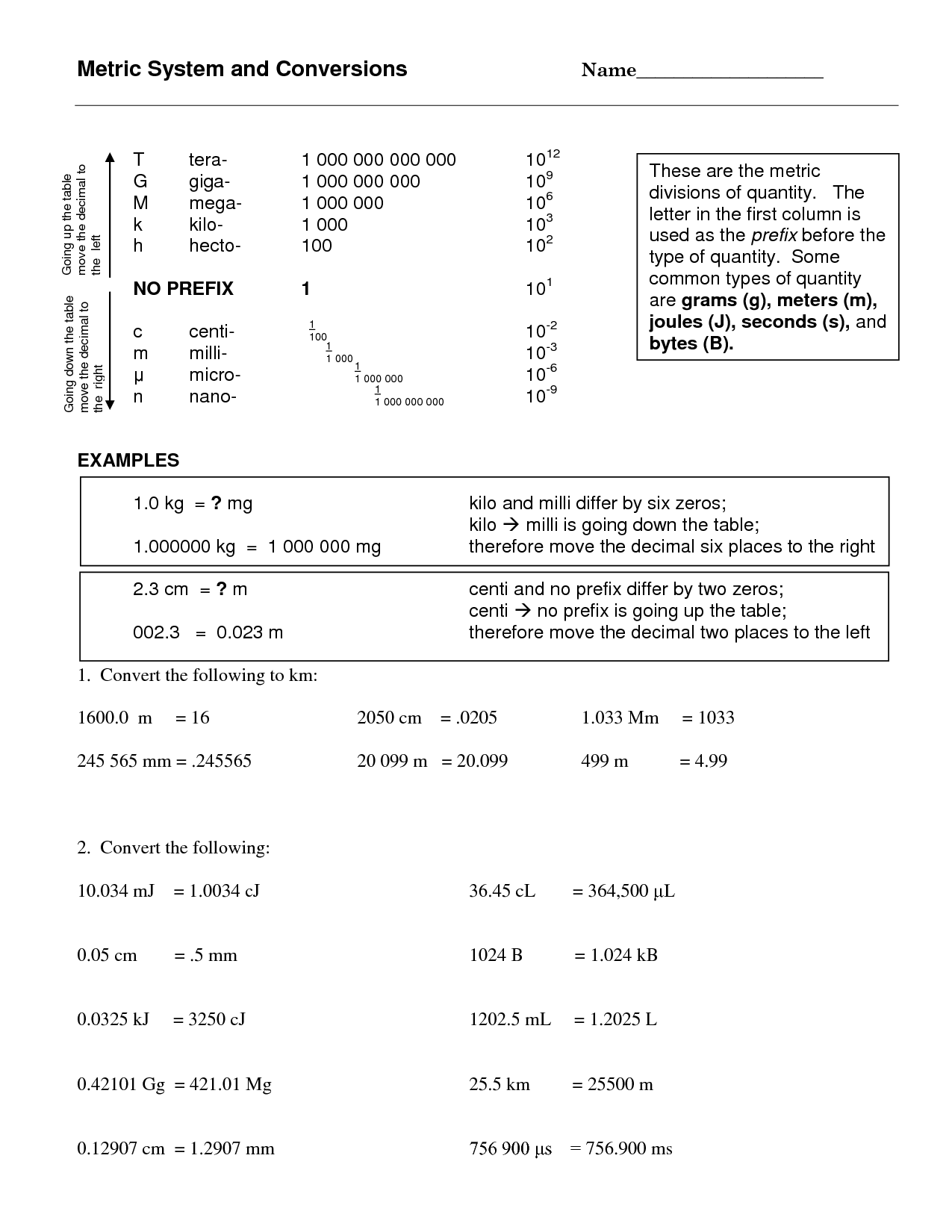 Pascal Si Unit Worksheet