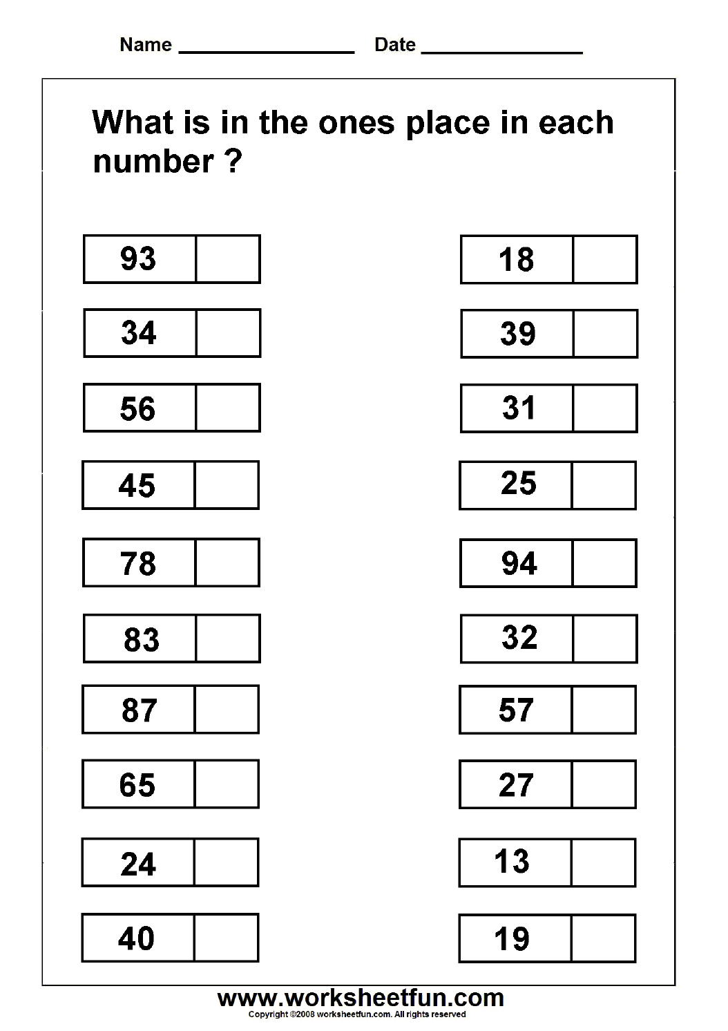 14 Best Images Of Fun Place Value Worksheets