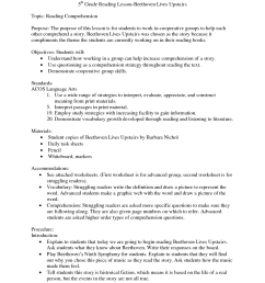 5th Grade Reading Worksheet   Printable Worksheets and Activities for  Teachers [ 1650 x 1275 Pixel ]