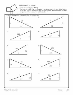 11 Best Images of 9 Grade Math Worksheets With Answers