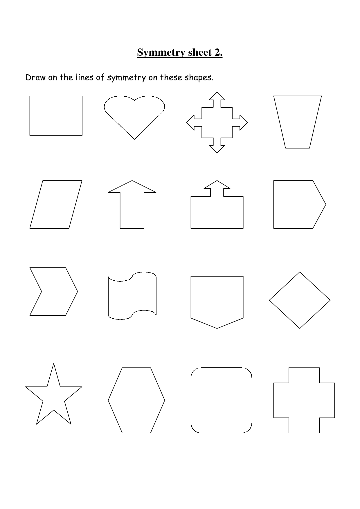 Rotational Symmetry Worksheet