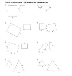 Congruent And Similar Polygons Worksheets   Printable Worksheets and  Activities for Teachers [ 3299 x 2551 Pixel ]