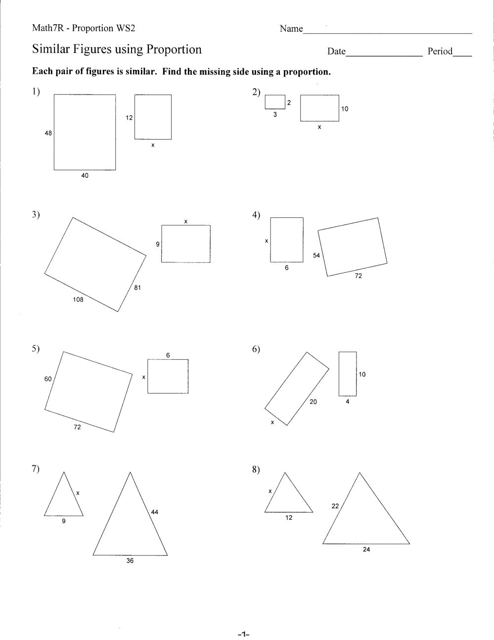 medium resolution of Congruent And Similar Polygons Worksheets   Printable Worksheets and  Activities for Teachers