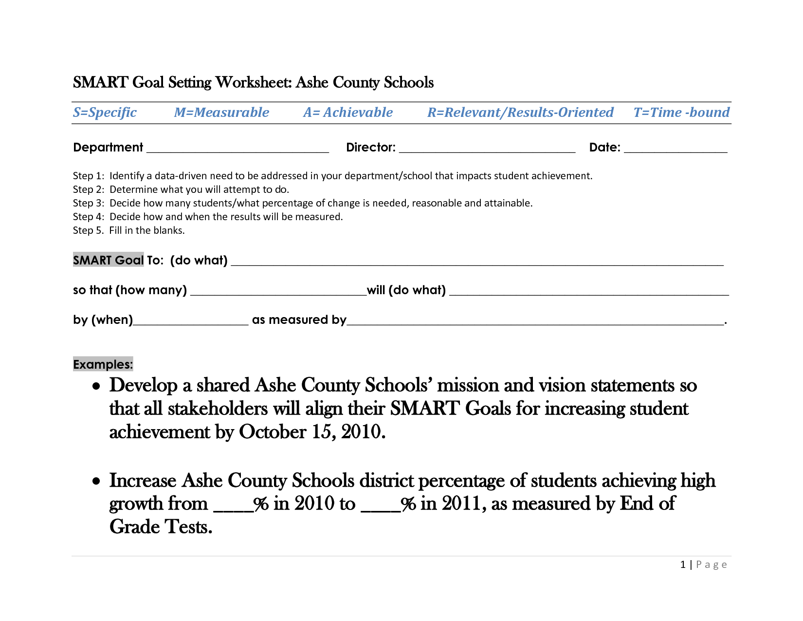 15 Best Images Of Goal Worksheet High School Athlete