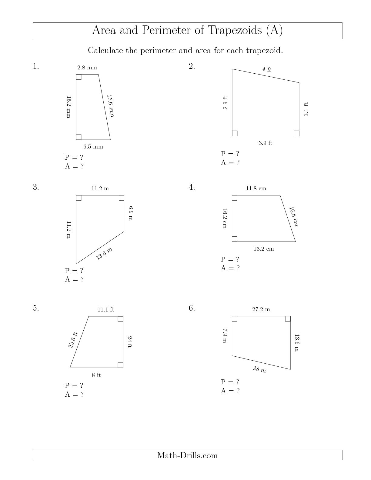 7 Best Images Of Area Of A T Zoid Worksheet
