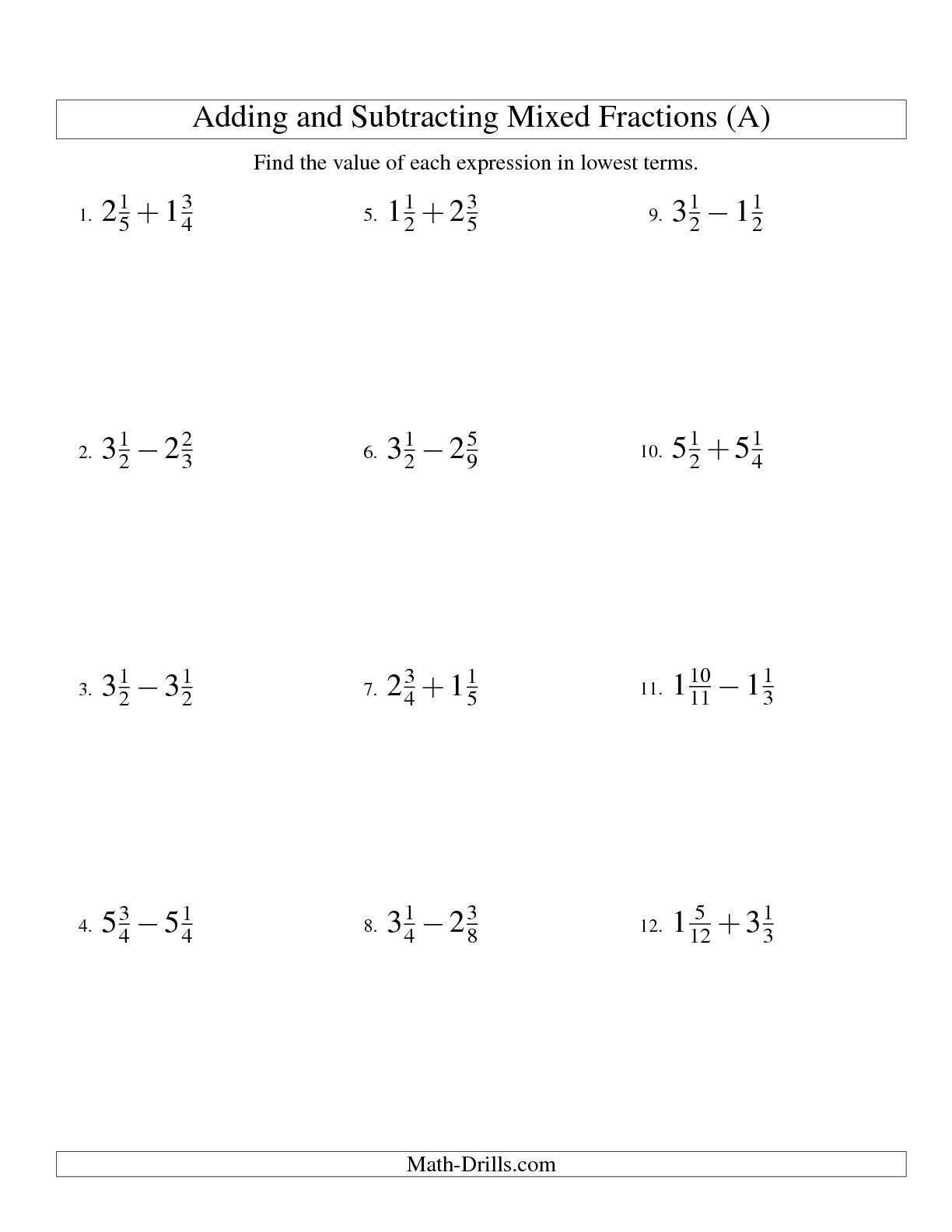 16 Best Images Of Addition And Subtraction Worksheets