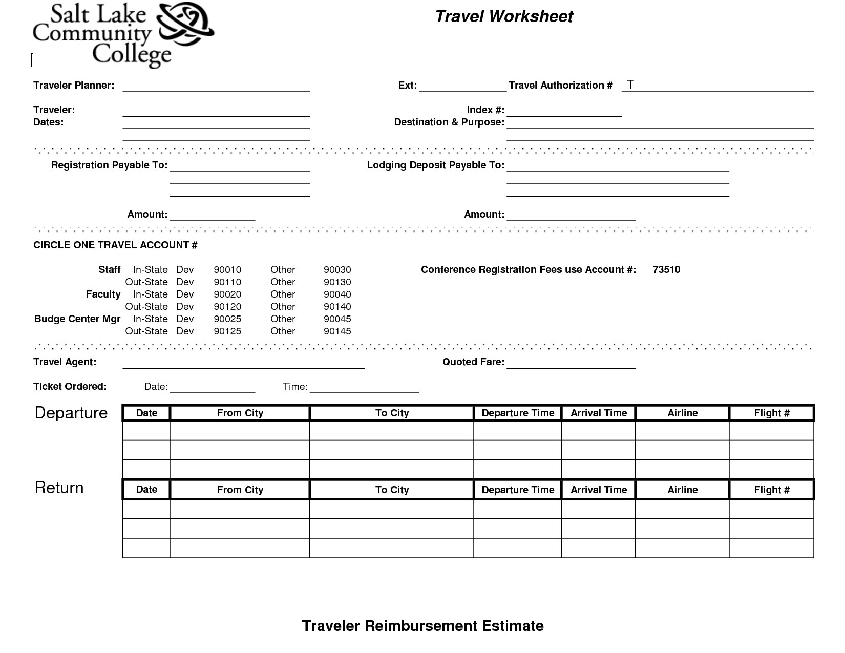 11 Best Images Of Flight Planning Worksheet
