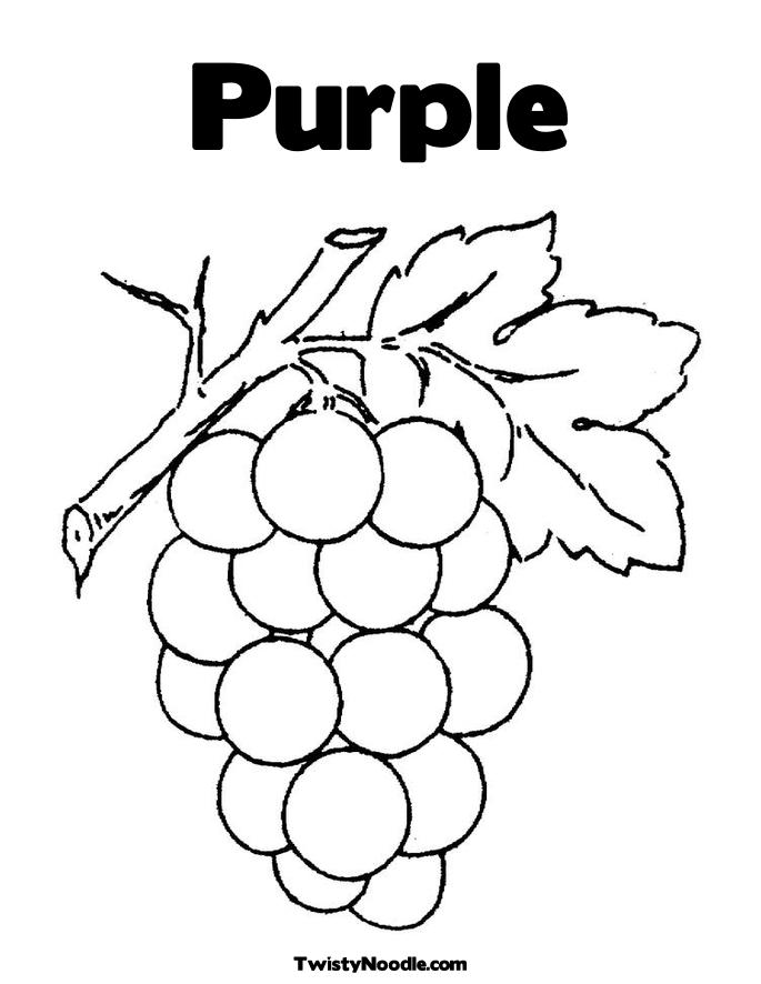 7 Best Images of Worksheets For Preschoolers Color Purple