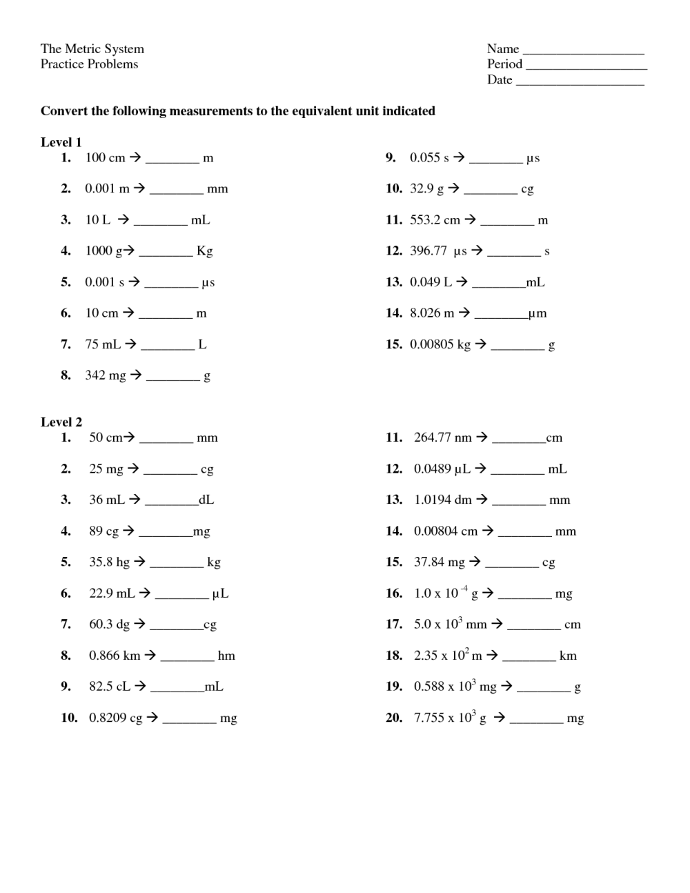 medium resolution of Convert Customary Units Of Length Worksheets   Printable Worksheets and  Activities for Teachers