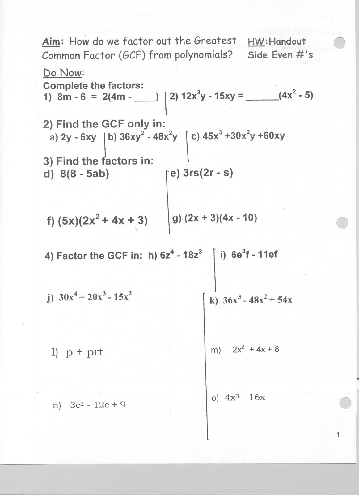 19 Best Images Of Evaluating Polynomials Worksheet