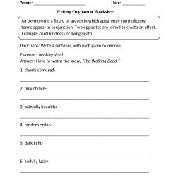 Example Hyperbole Worksheet   Printable Worksheets and Activities for  Teachers [ 1662 x 1275 Pixel ]