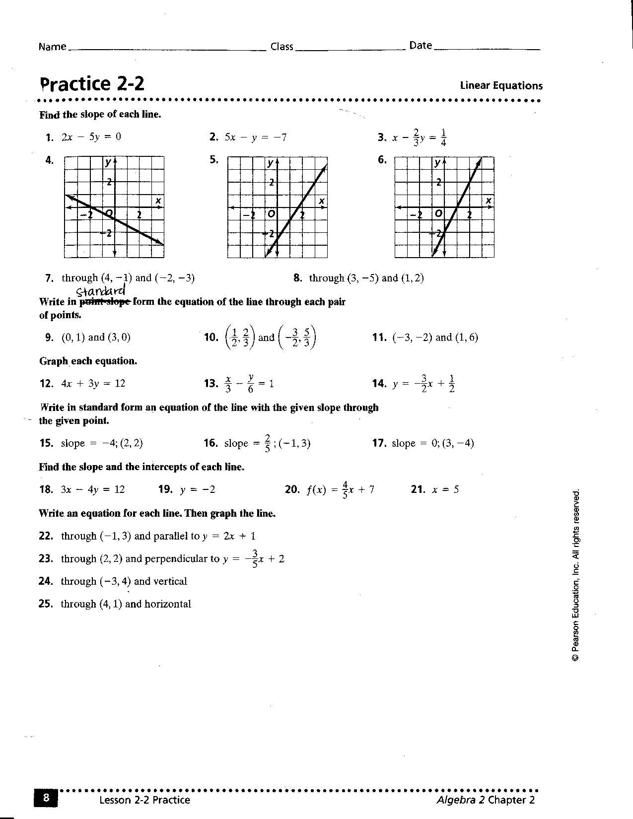 15 Best Images Of Writing Linear Equations Worksheet