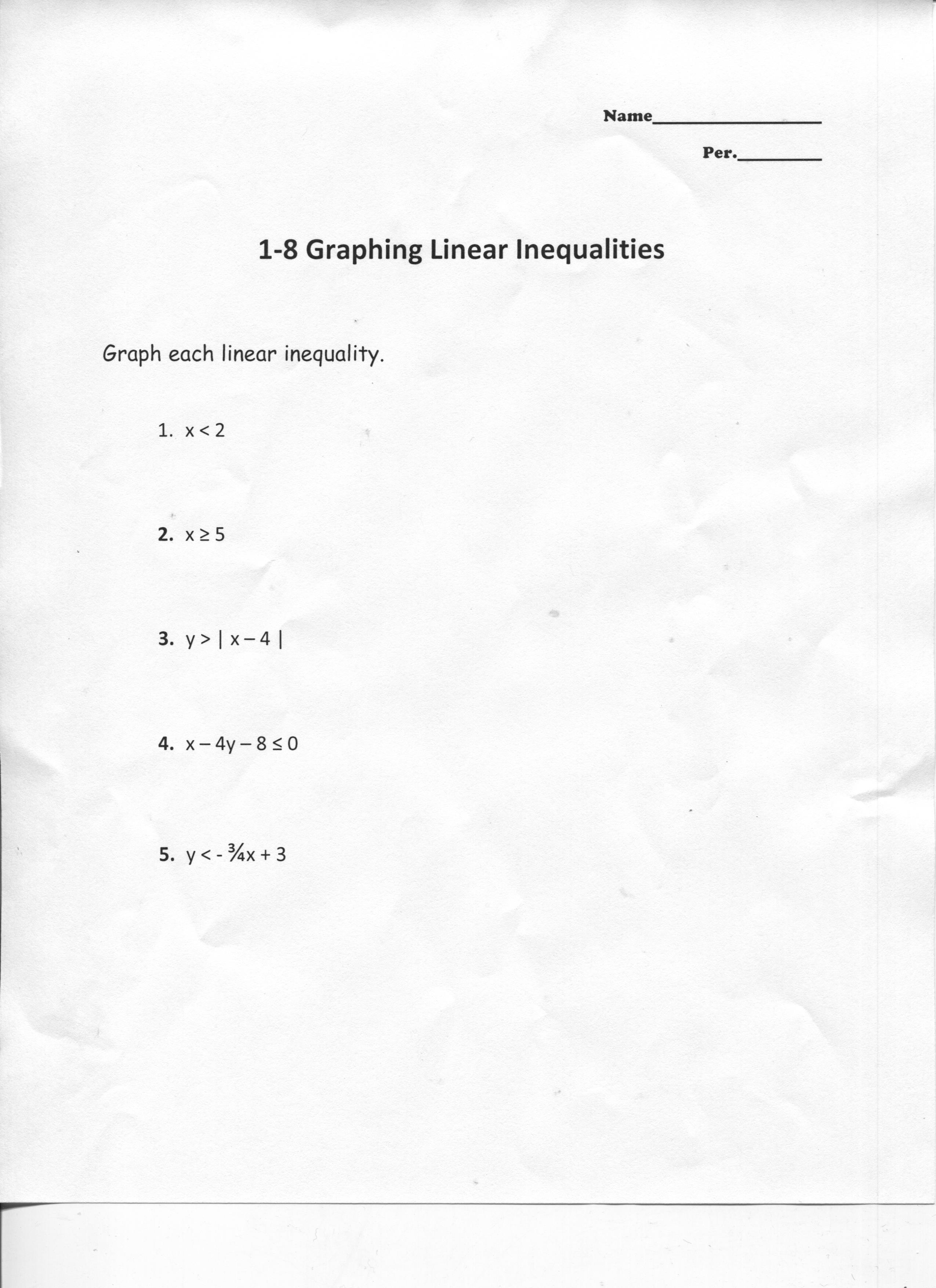16 Best Images Of Writing Linear Equations Worksheets