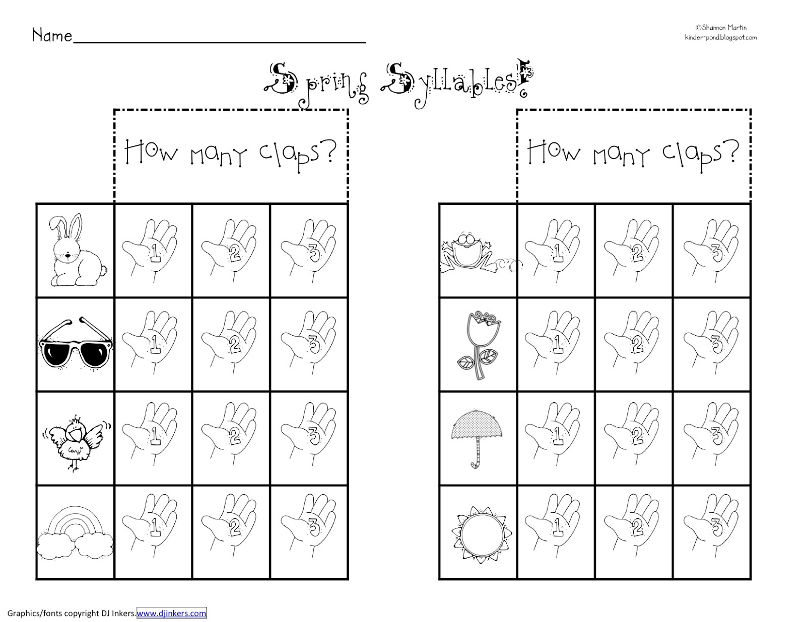 18 Best Images Of Print Syllable Worksheets Kindergarten