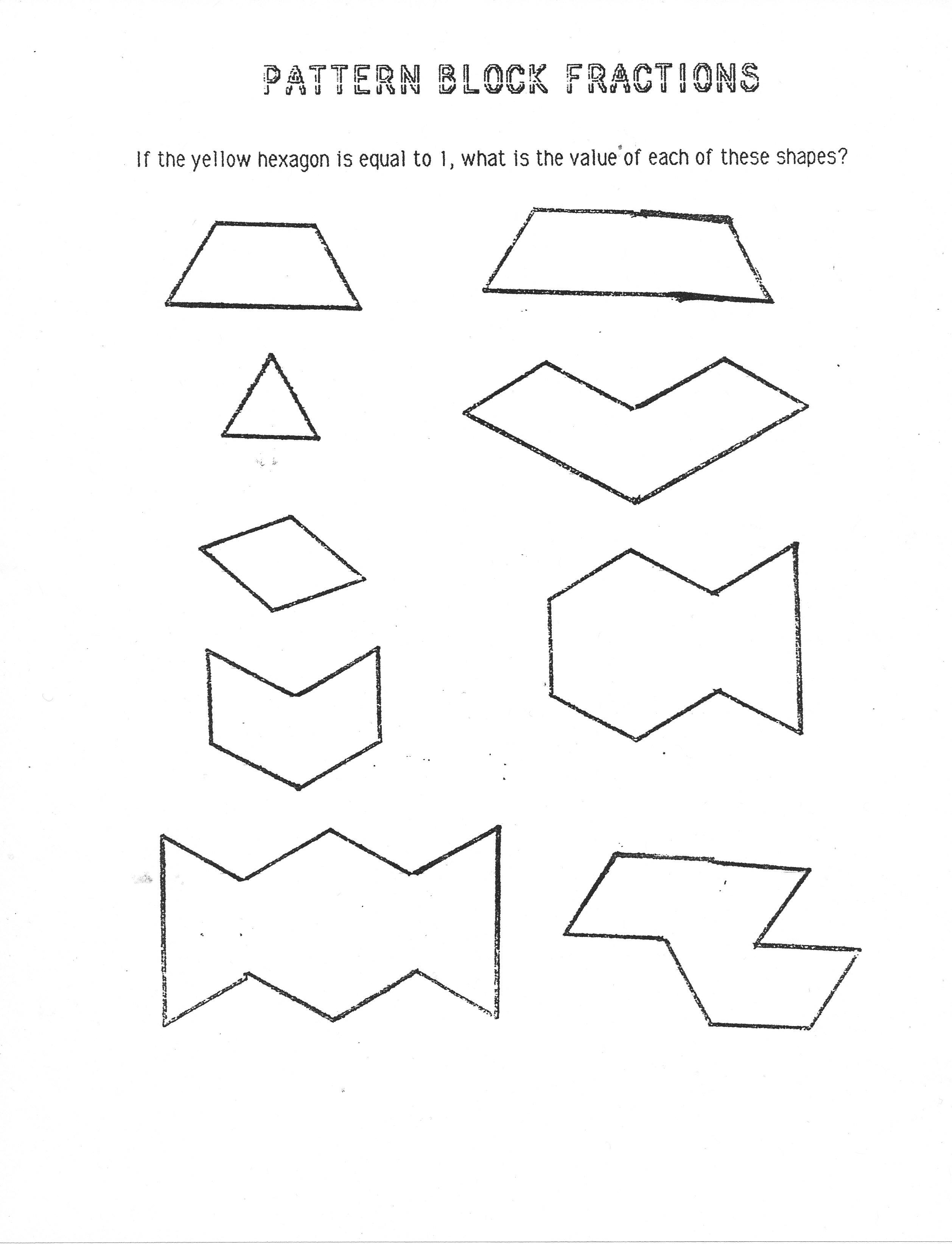 6 Best Images Of Pattern Blocks Worksheet 2nd Grade