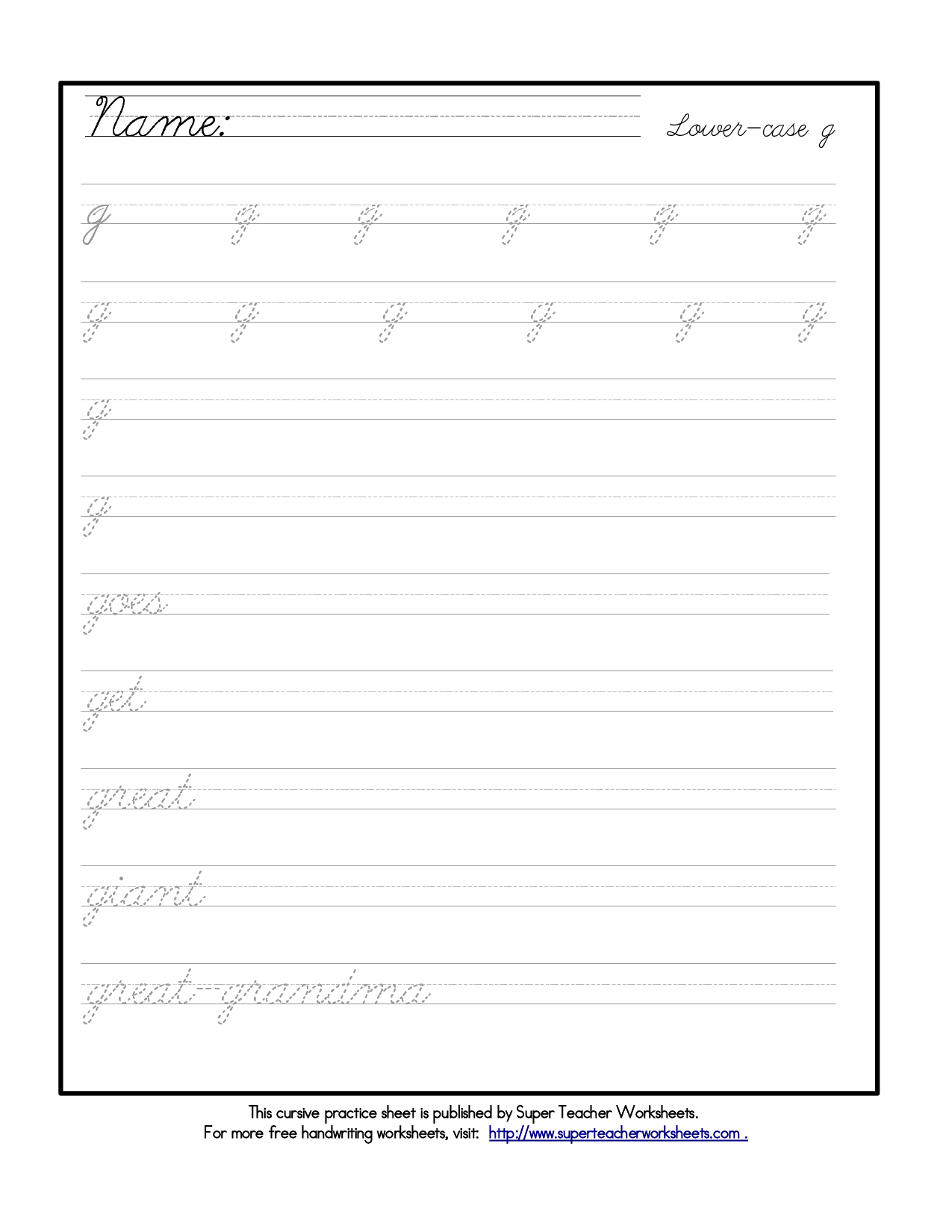 3rd Grade Printable Writing Worksheets