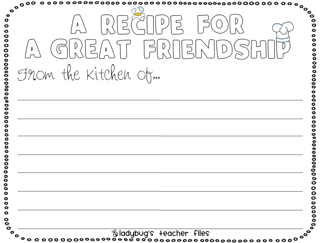 13 Best Images Of Friendship Printable Worksheets For