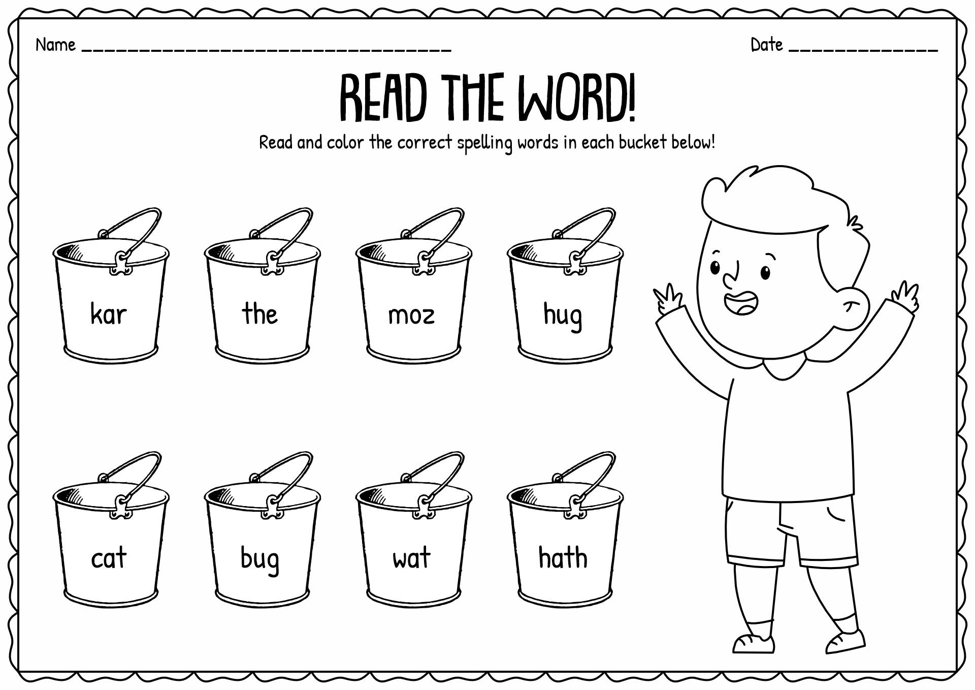 18 Best Images of Print Syllable Worksheets Kindergarten
