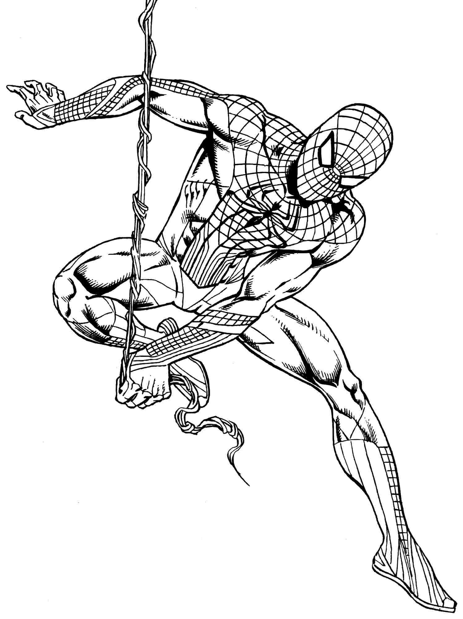 Generic Superhero Coloring Pages