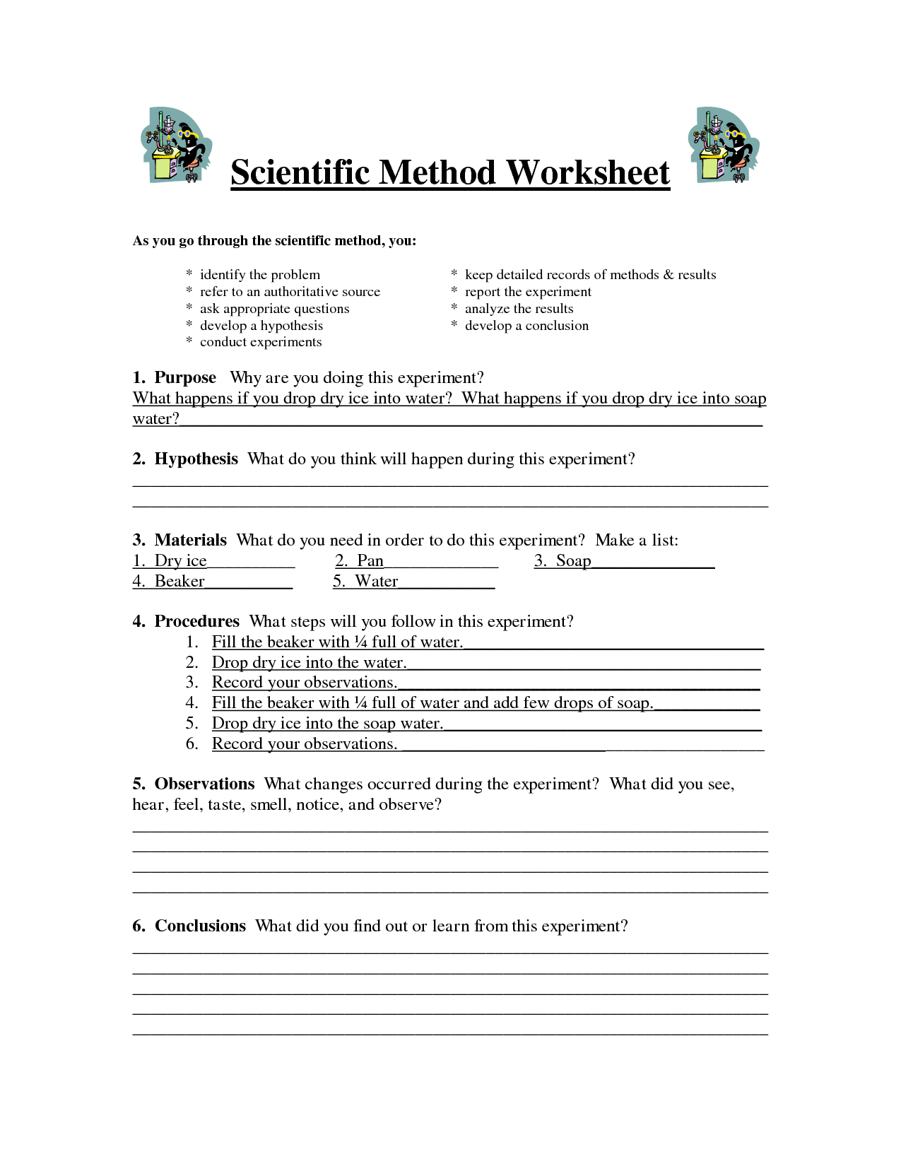 9 Best Images Of Hypothesis Printable Worksheets