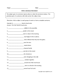 19 Best Images of Sentence Variety Worksheet - 1st Grade ...