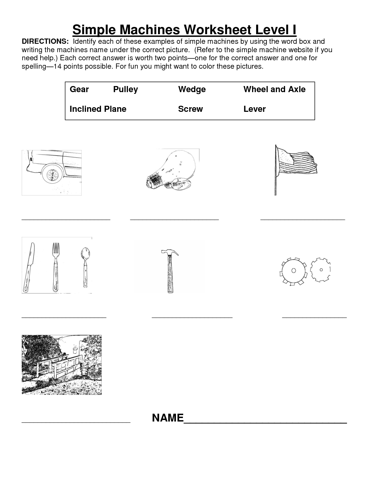 11 Best Images Of Simple Machines Worksheets Grade 2