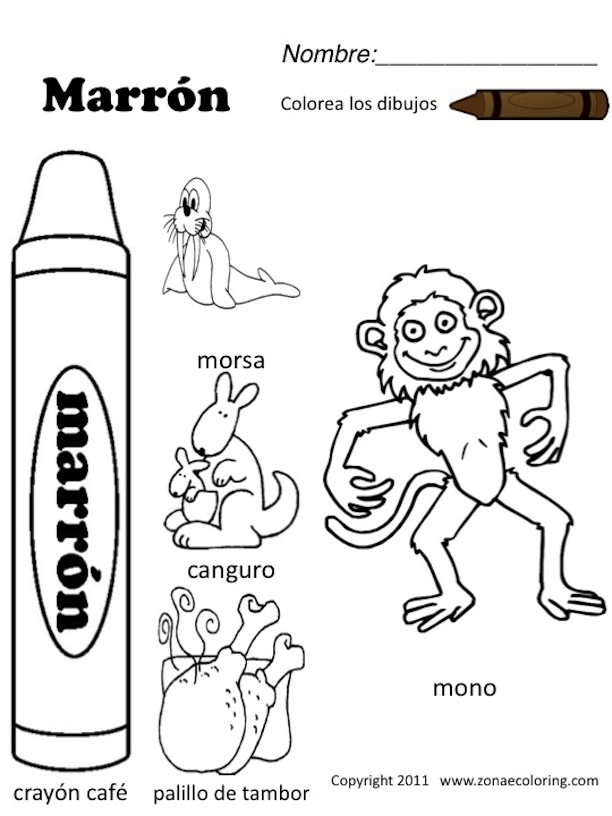 13 Best Images of Colors Spanish Worksheets Printable