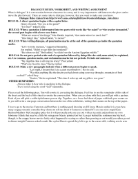 16 Best Images of Editing Dialogue Worksheet - Common Core ...