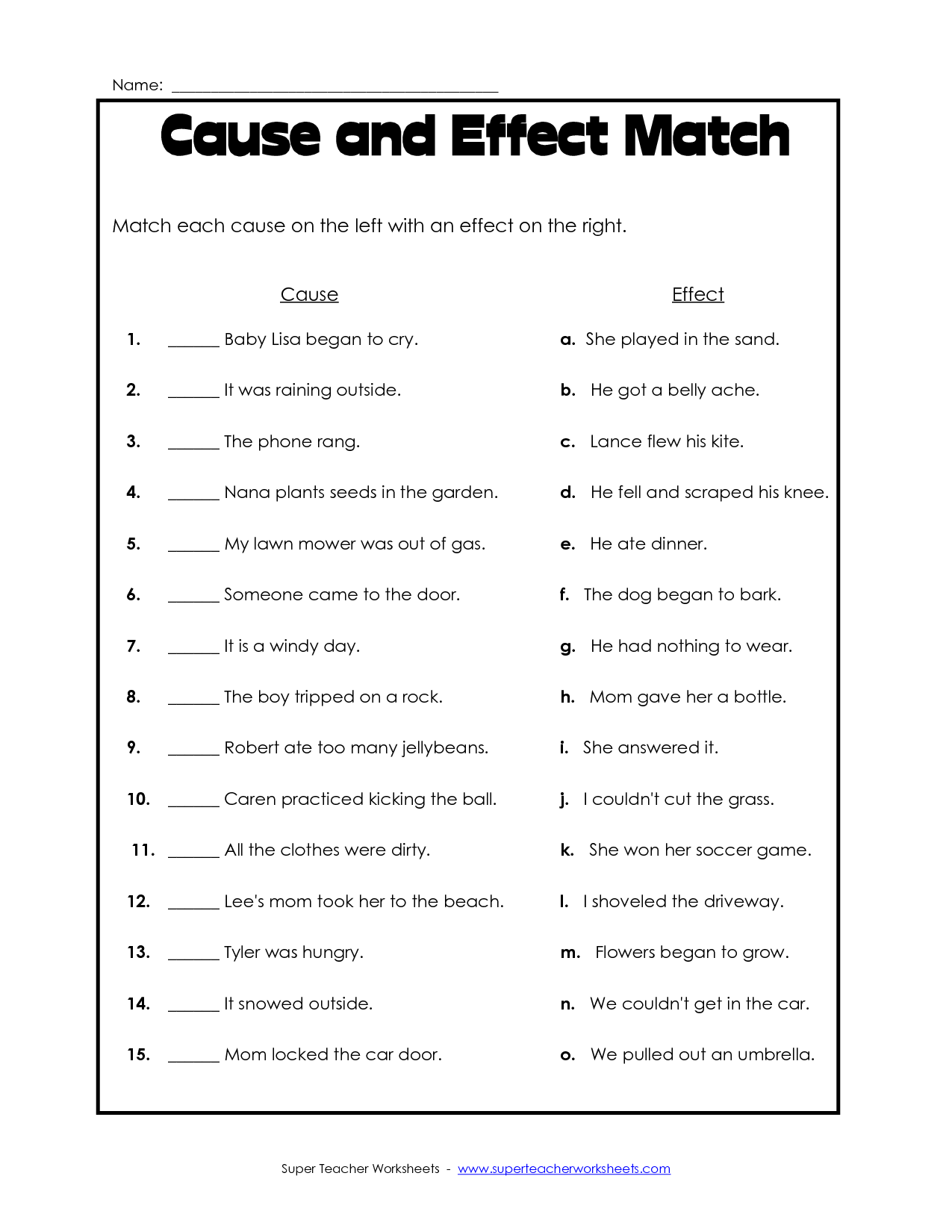 17 Best Images Of Matching Worksheet Template