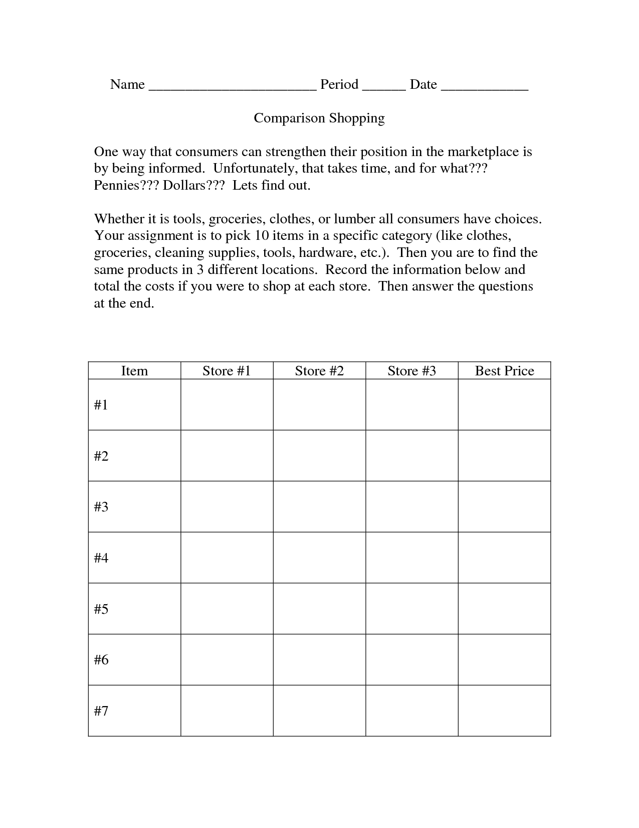 16 Best Images Of Shopping Worksheets Grocery Store