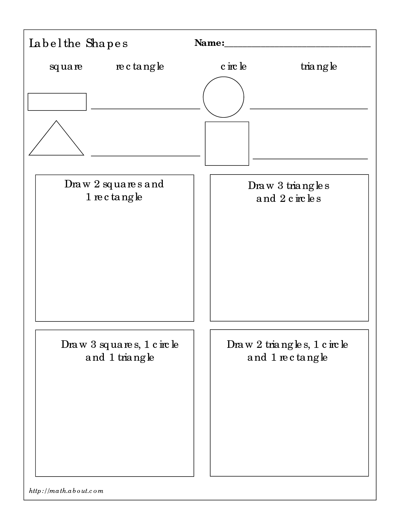 10 Best Images Of Math 3d Shapes Worksheet