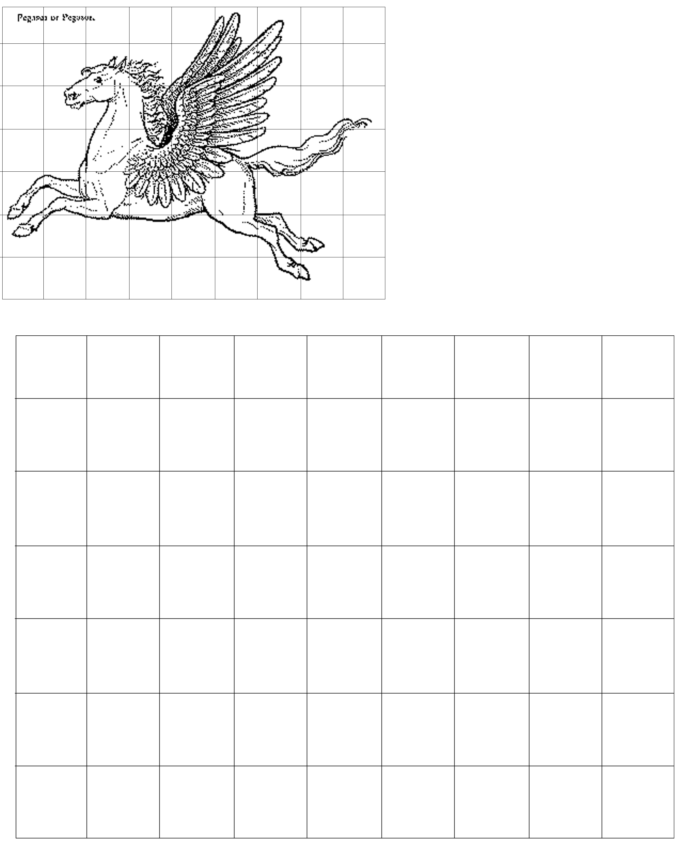 Easy Grid Drawing Worksheet