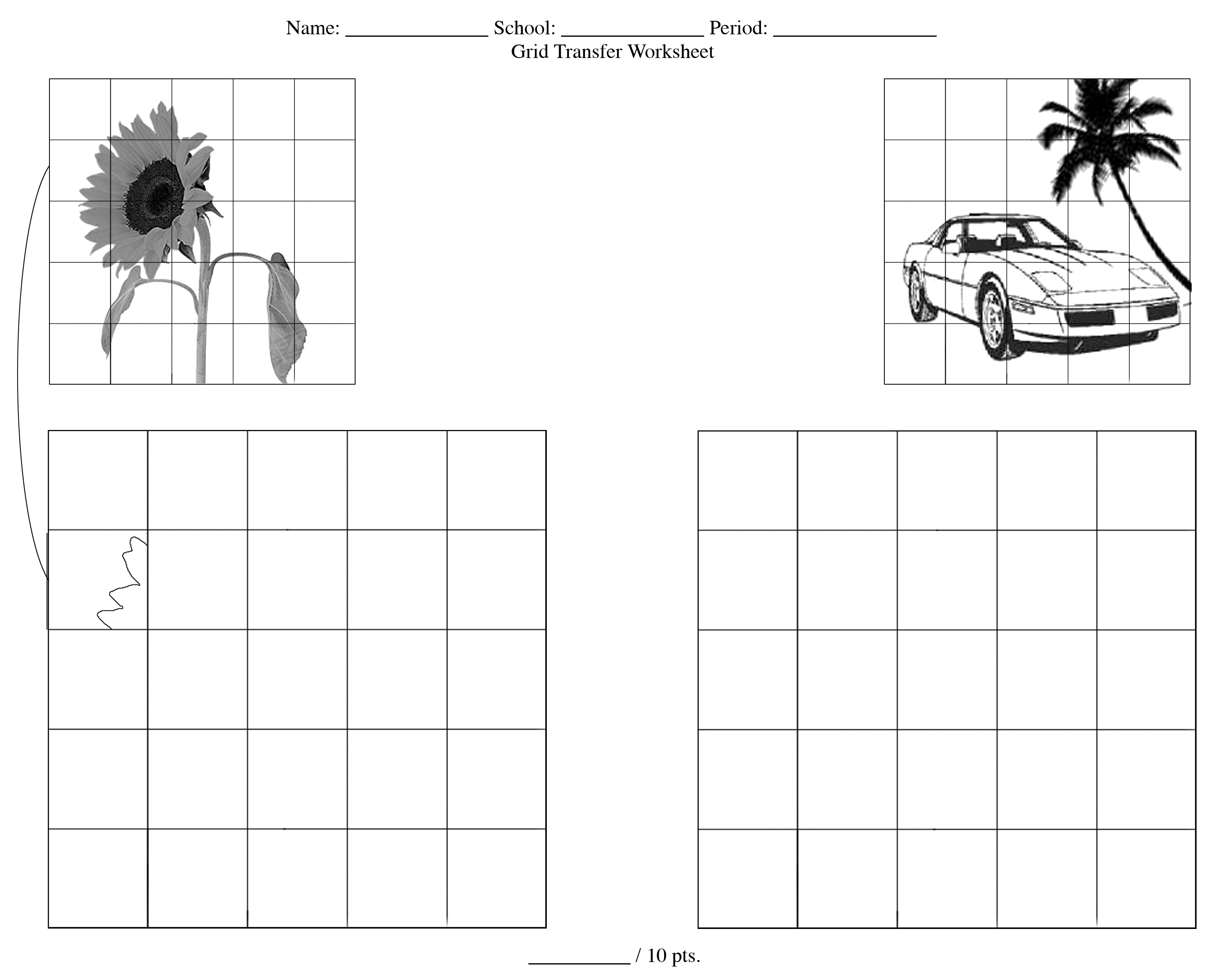 Grid Drawing Worksheet Printable Worksheets And
