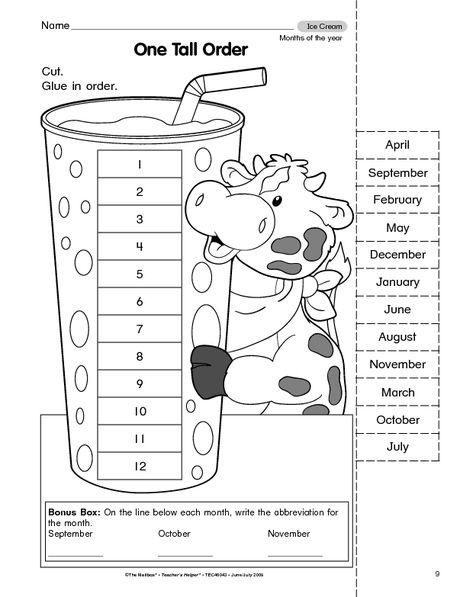 16 Best Images of Number Order Cut And Paste Worksheets