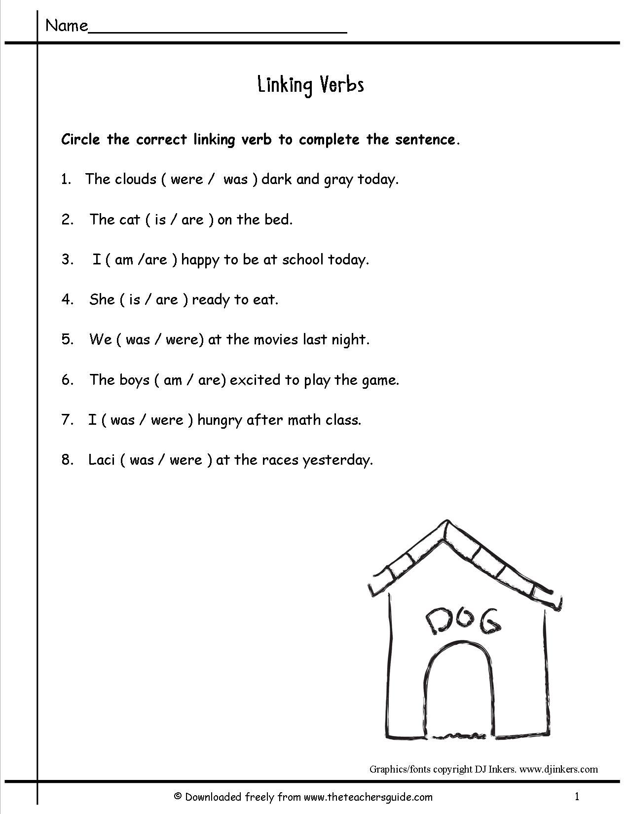 18 Best Images Of Verbs Worksheet For Grade 2