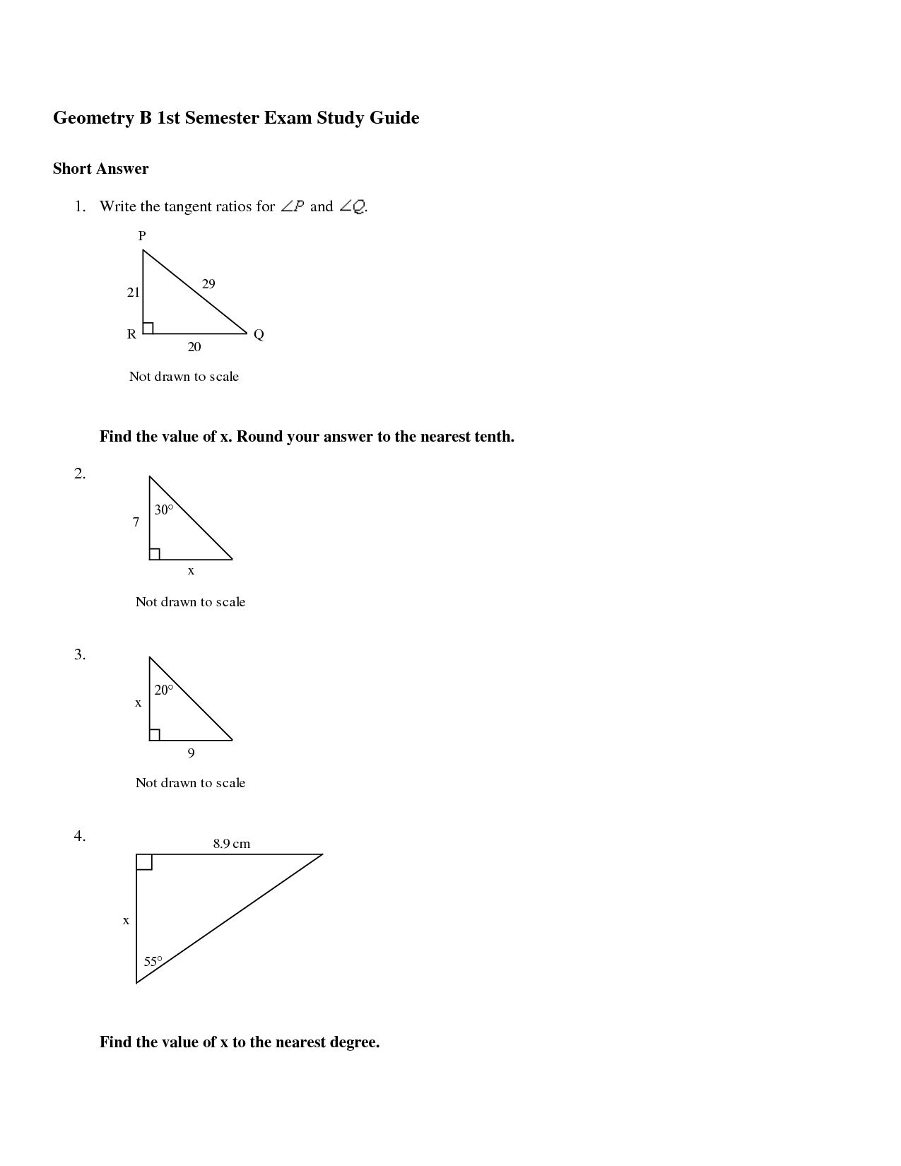 10th Grade Math Worksheet Problems