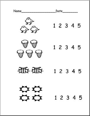 15 Best Images of Number Recognition Worksheets 1-5