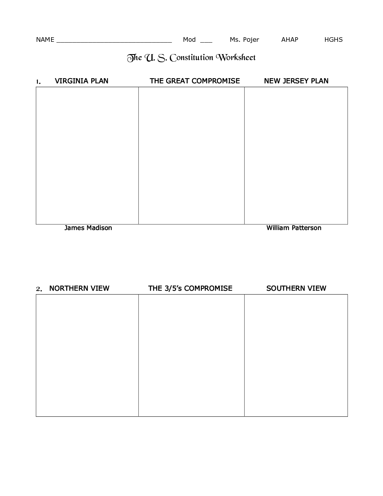 8 Best Images Of Us Amendments Worksheet