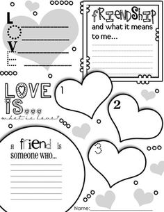12 Best Images of Friendship Worksheets For Elementary