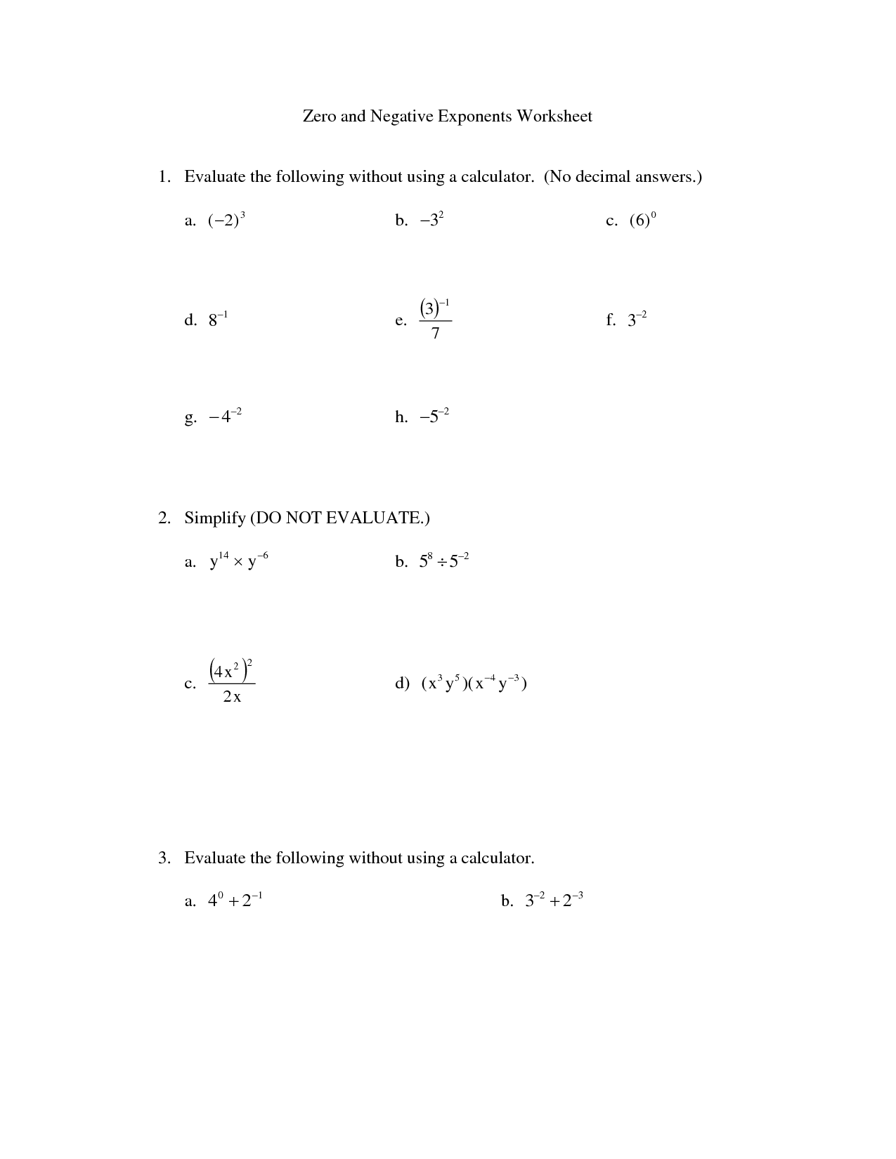 13 Best Images Of Exponent Worksheet Answers 10th Grade
